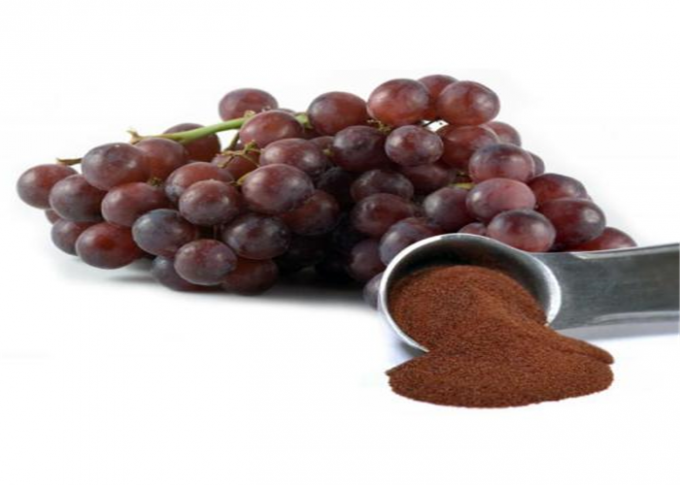 Red Brown Grapeseed Extract Proanthocyanidins Polyphenols 80 Mesh Anti Aging